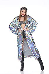 Holographic Mermaid Sequin Rave Long Sequin Duster
