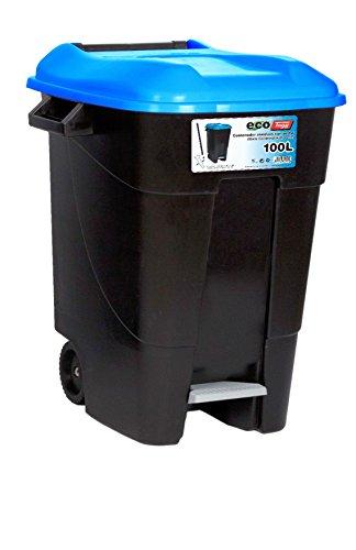 Tayg 421020 Eco - Contenedor de Residuos Eco con Pedal, color Azul, 100 L