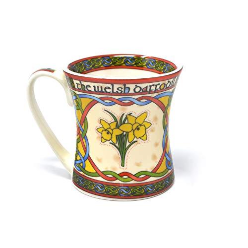 Welsh Daffodil Cymru Mug New Bone China Cup Porcelain National Flower of Wales St. Davids Day Gift Capacity 325ml/11fl oz