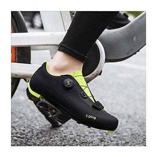 HaoLin Zapatos De Triatlón para Bicicleta De Carretera Zapatillas con Bloqueo De...
