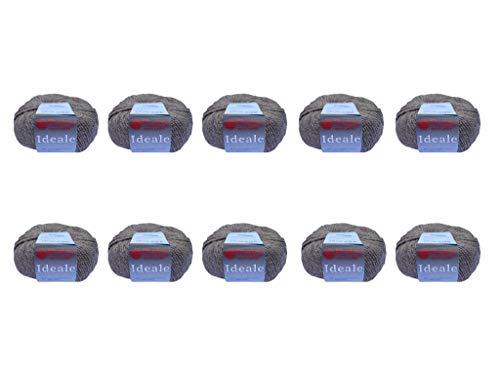 10 ovillos de lana de merino multiolores, 50 g para tejer manualidades,...