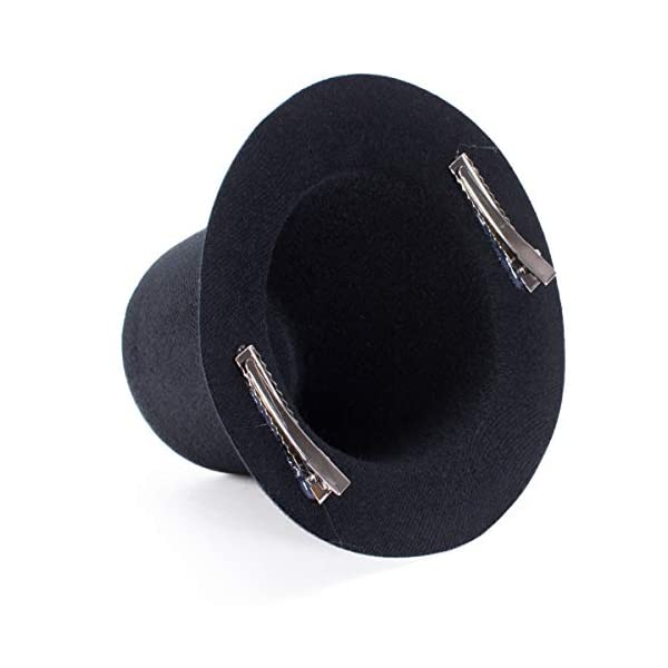 Lawliet Mini Top Tall Hat Fascinator Base Alligator Clips Millinery Craft A006