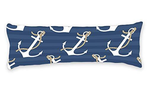 Fhdang Decor Taie d'oreiller de Corps avec Fermeture Éclair pour la maternité et la Grossesse, Coton, Blue , Single 3ft (36'')