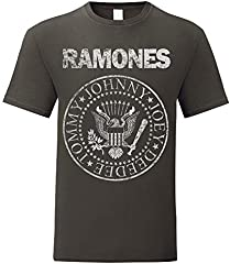 Camiseta Hombre Ramones - Grunge Print T-Shirt Punk Rock Band 100% algodòn