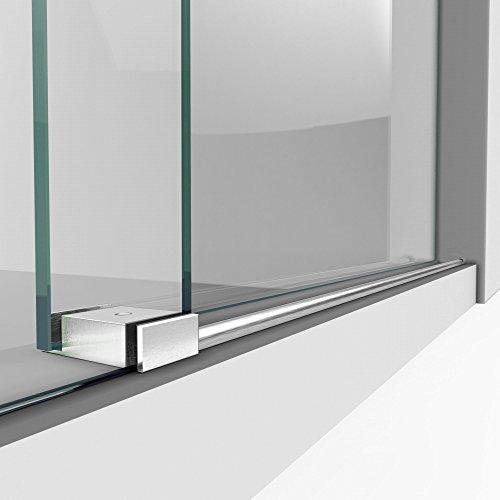 DreamLine Enigma-XO 50-54 in. W x 76 in. H Fully Frameless Sliding Shower Door in Brushed Stainless Steel, SHDR-61547620-07