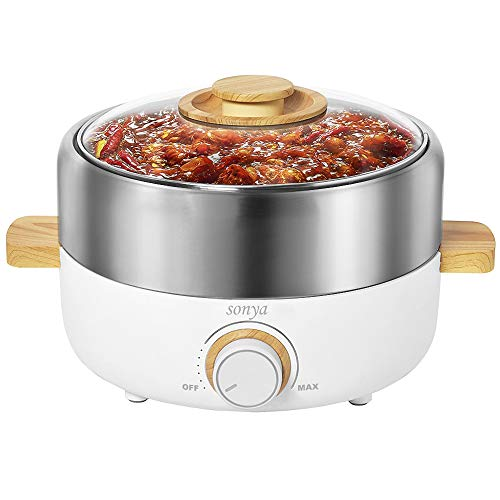 Sonya SYHP-2B High End Multi-Functional Non Stick Electric Shabu shabu Hot Pot 4-in-1 Super Cooker,...
