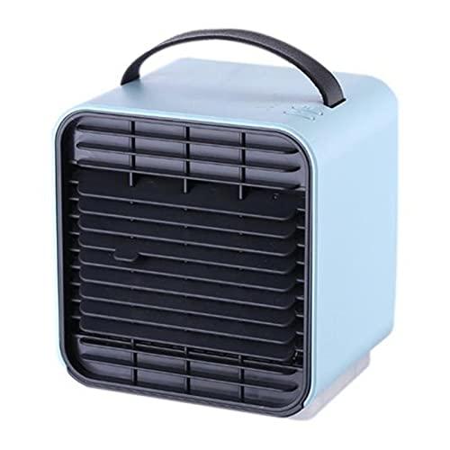 DOUYUAN Refrigerador de Aire portátil Mini USB Carga de enfriamiento de refrigeración Aire Acondicionado Purificador Humidificador (Color : Blue)