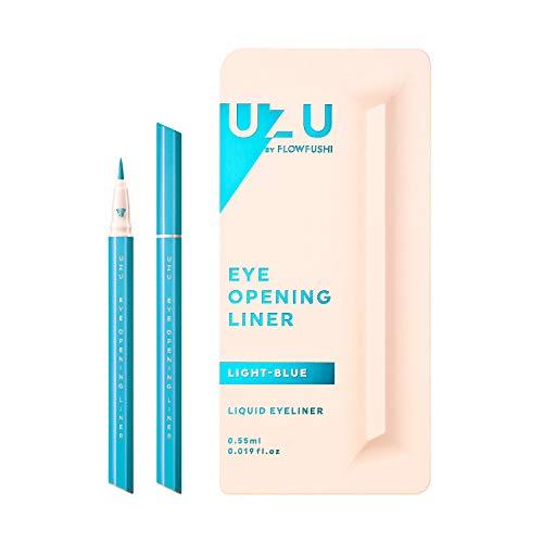 UZU BY FLOWFUSHI (ウズバイフローフシ) アイオープニングライナー [ライトブルー] リキッドアイライナー お湯オフ アルコールフリー 低刺激性