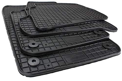 Kfzpremiumteile24 Gummimatten Kompatibel mit Polo 6R 6C Baujahr 2009-2017 Premium Fußmatten Allwetter Schwarz 4-teilig