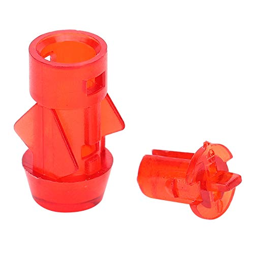 Soporte de plástico LED de 100 piezas, montaje en bisel, indicador de PC rojo, soporte de lámpara LED, pantalla de luz de avión de 5 mm, nivel alto a prueba de fuego