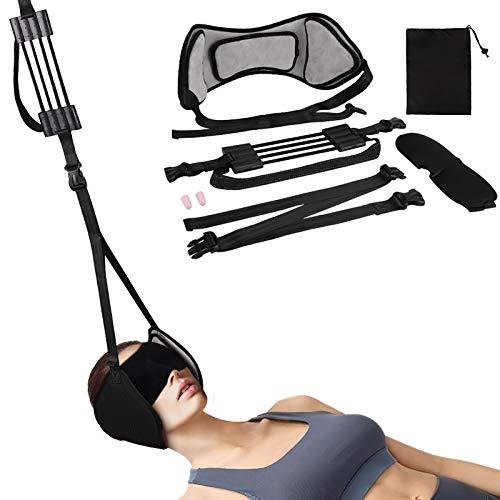HALOVIE Hängematte zur Entspannung der Halswirbelsäule durch Zugkraft der Halswirbelsäule verstärkt, Stresslos, tragbar, Entspannung, Nackenschmerzen, Schmerzlinderung im Nacken, an der Schulter