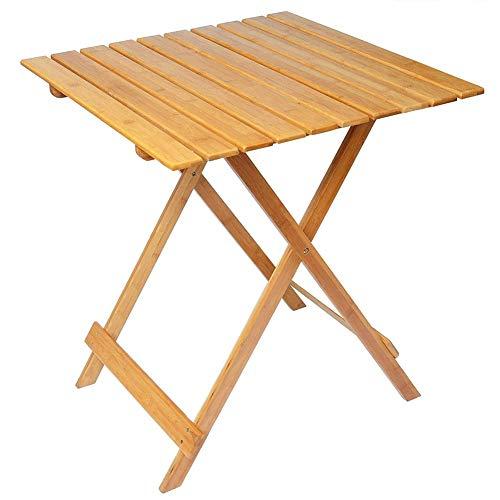 Mediawave Store - Mesa plegable de 80 x 60 cm de madera plegable de jardín, mesa plegable de apoyo, madera, ahorra espacio, ideal para balcón, terraza, mesa de picnic (natural).