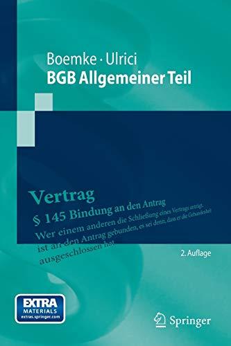 BGB Allgemeiner Teil: Second Edition (Springer-Lehrbuch)