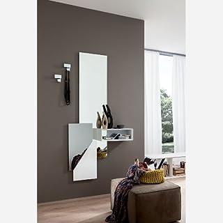 Specchiera Porta Abiti.Amazon It Specchio Con Appendini