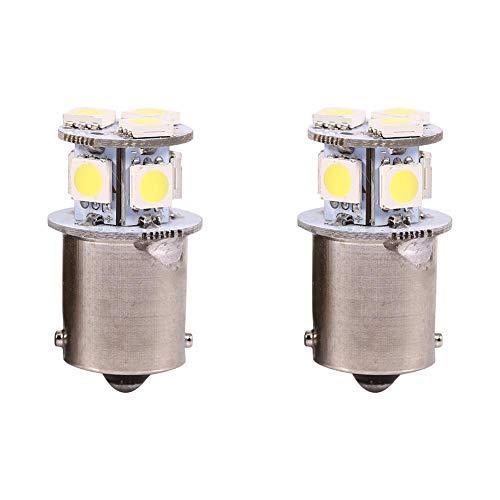 2 pcs Feu de Stationnement, Keenso LED Feux de Freinage Feu Stop R5W 1156 5050-8SMD Ampoule de Frein de Voiture Lumières Blanc Clignotant/Queue/Inverse