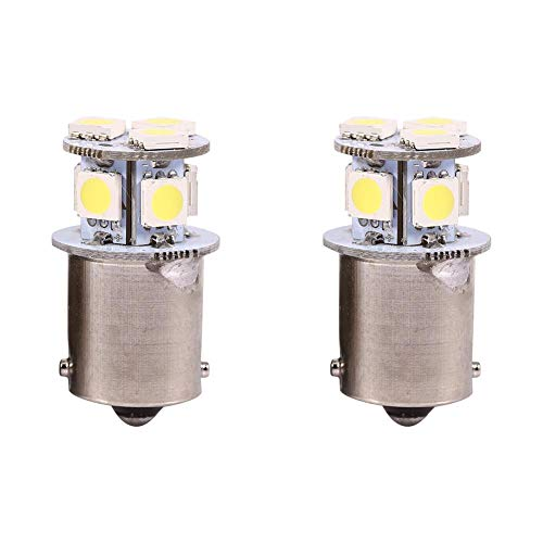 Bombillas de freno 2pcs Blanco BA15S R5W 1156 5050 8SMD LED Car