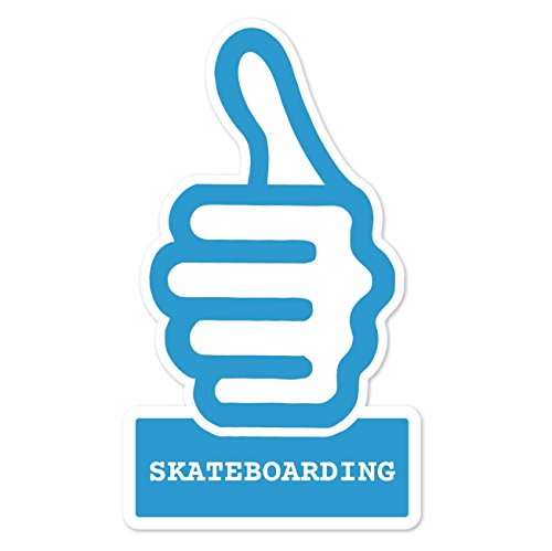 JOllify Sticker - Skateboarding - 10cm - Design: thumbs up - duim hoog