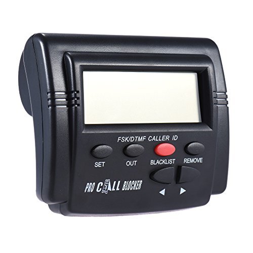 KKmoon CT-CID803 Caller ID Box Call Blocker Stop Nuisance Calls Devices Call ID LCD Screen Display with 1500 Numbers Capacity Stoping All Cold Calls for Fixed Phones Antique Landline Telephone
