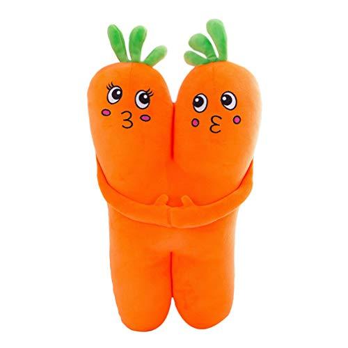 Toyvian Juguetes de Felpa Vegetal Zanahorias Muñeca Felpa Suave Juguete de Peluche Vegetal Almohada de Tiro Foto Prop Compañero de Dormir para Adultos Niños