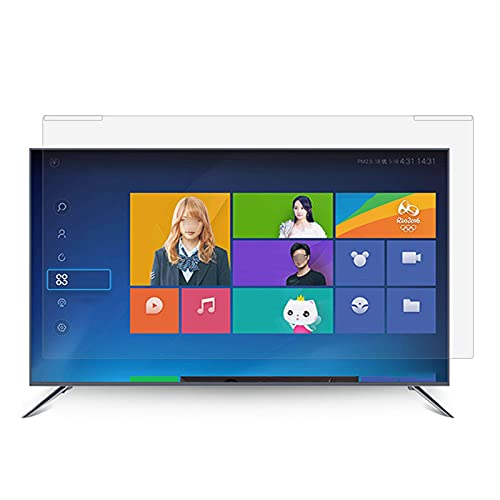 ALX-Dec Placa De Aislamiento Acrílica De Alta Definición para TV, Pantalla LCD, Protección Ocular, Película Protectora Antirrayas con Luz Azul,49inch