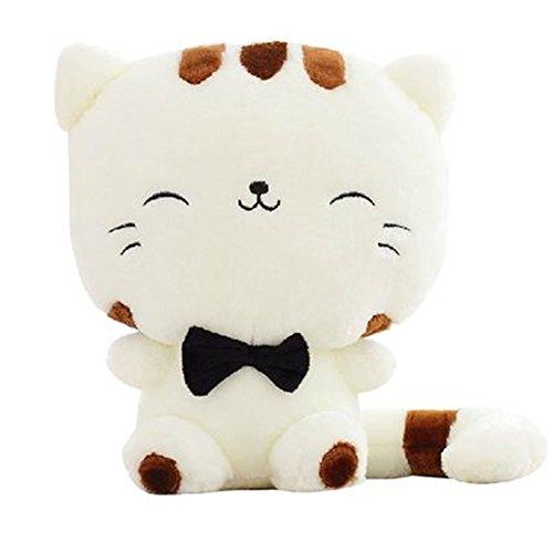 YunNasi Plüsch Katze Form Kissen Kissenpolster Sofa Spielzeug Wohnkultur Weichem und Süße (45cm)
