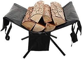 【Amazon限定ブランド】 薪スタンド 薪キャリー 薪バッグ付属 アルミ製 軽量 薪置き 薪ストーブ 分割式 1台多役 湿気対策 焚火 コンパクト収納 収納袋付き MT-FF001