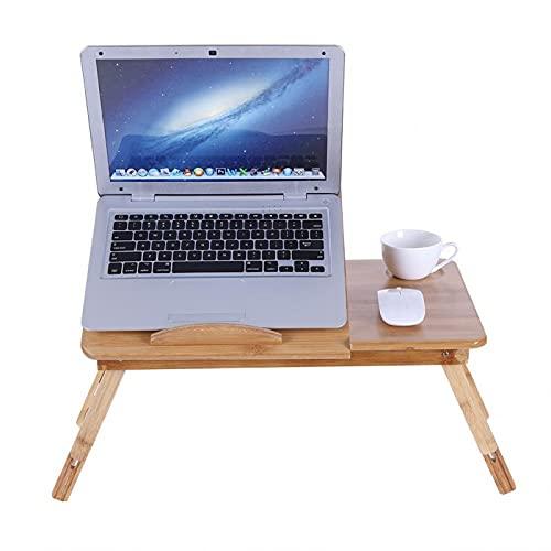 Zwinner Escritorio para computadora portátil, Escritorio de Regazo de Cama Plegable y liviano para sofá Cama en casa, etc.(con cajón)