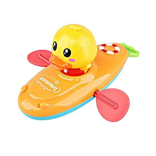 Ishine Juguetes de baño para niños, bote remiendo pato bañera de juguete flotante Wind-up juguetes pato submarino piscina agua juguete para niños niños niños pequeños