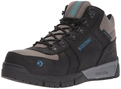 WOLVERINE Men's Mauler Hiker Composite Toe Waterproof Work Boot, Black, 13 M US