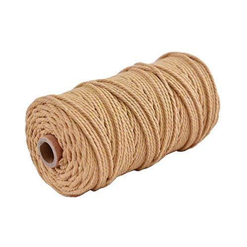 CAOLATOR. Cordón de algodón Macrame 100mx3mm Cuerda de Hilo DIY Deco