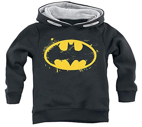 Batman Spray Logo Unisex Kapuzenpullover schwarz 140