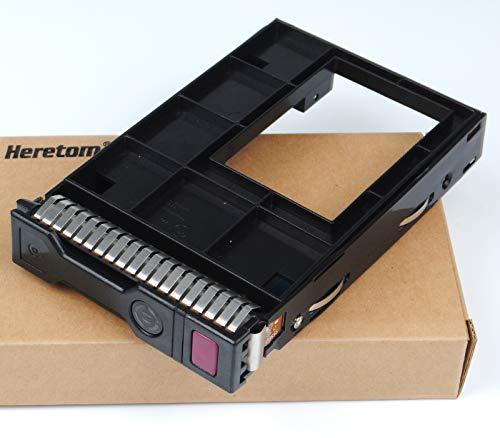 Heretom Hybrid 651314-001 3,5 Zoll SSD SAS SATA Festplattenfach Festplatten Rahmen Tray Laufwerk Caddy mit Adapter 661914-001 2,5