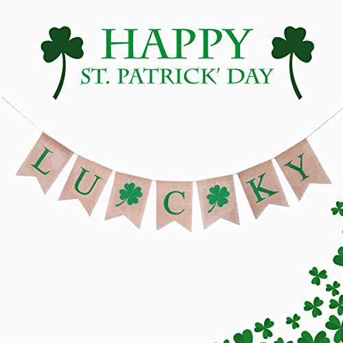St Patricks Jour Bunting Bannière Guirlande Fait Main Irlandais Drapeaux Shamrock NEUF