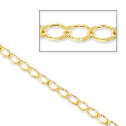 Perles & Co Catena maglia gourmette mm. 2.4x4.6 dorato x m. 1