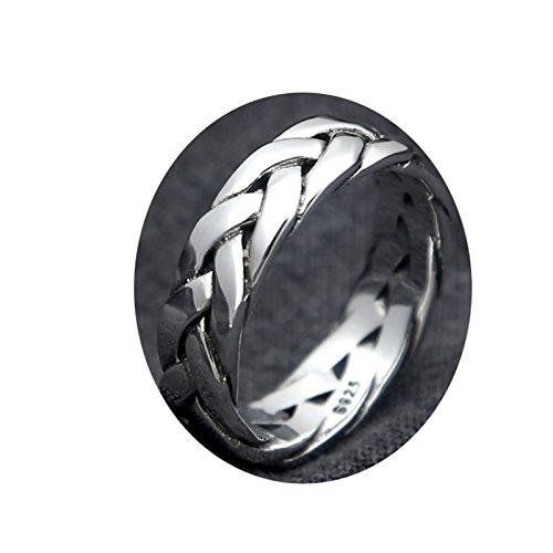 Anyeda Ring Zum Tauchen Damen Ring 0 Webring Größe 62 (19.7) 925 Silber Ring Blauer Stein