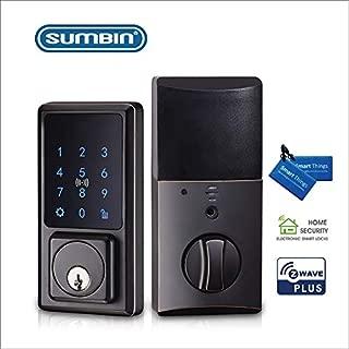 Sumbin Z-Wave Electronic Keypad Smart Deadbolt in Iron Black