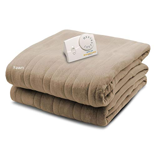 Biddeford Comfort Knit Fleece Heated Electric Blanket