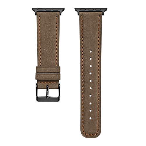 Transer Braccialetto di Cinturino in Cinturino in Pelle con Cinturino in Vera Pelle di Ricambio, per Apple Watch Series 4 40mm (Coffee)