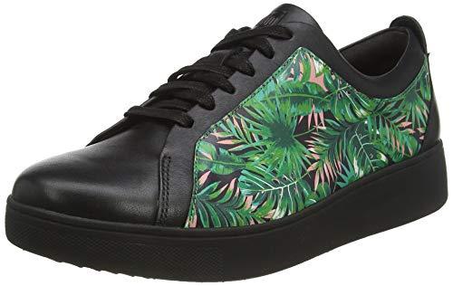 Fitflop Rally Jungle Print Sneakers, Zapatillas Mujer, Mezcla Negra, 41 EU