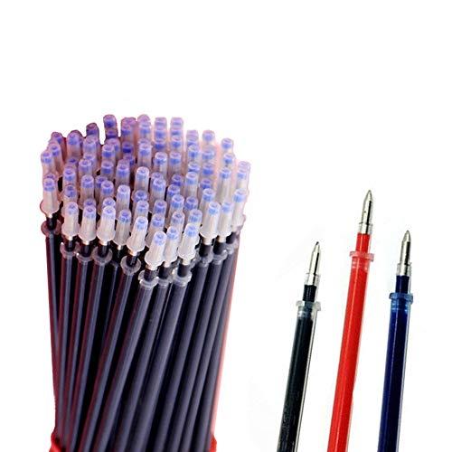 100 Pcs Colors Ballpoint Gel Pen Refills Markers Sets, Sameno Students Office School Supplies Ballpoint Gel Pens Refills (Black (0.5mm))
