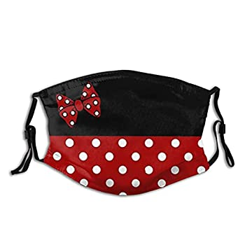 Cute Dis-ney Minnie Mouse Face Mask Face Mask Washable Balaclavas with 2 Pcs Filters