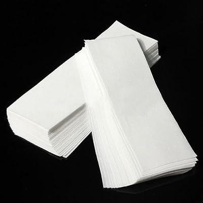 100 pcs Hair Removal Depilatory Nonwoven Epilator Wax Strip Paper Roll Waxing