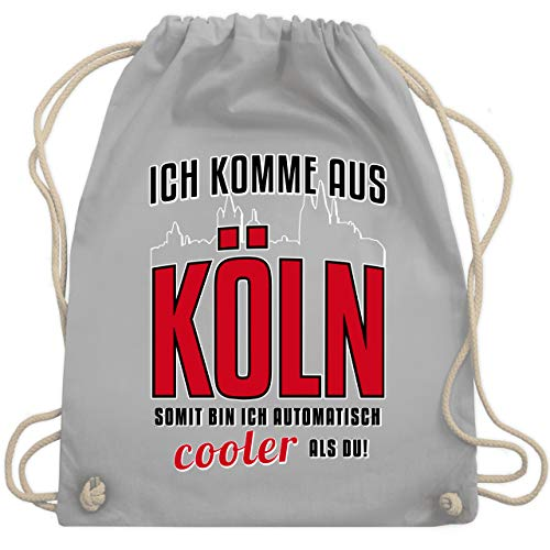 Städte - Ich komme aus Köln - Unisize - Hellgrau - tasche koeln - WM110 - Turnbeutel und Stoffbeutel aus Baumwolle