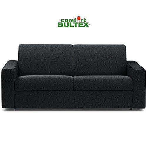 Canapé Convertible rapido CRÉPUSCULE Matelas 140cm Comfort BULTEX® Simili PUnoir
