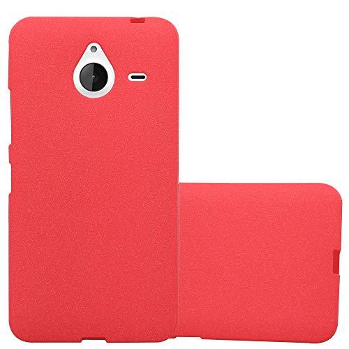 Cadorabo Funda para Nokia Lumia 640 XL en Frost Rojo - Cubierta Proteccíon de Silicona TPU Delgada e Flexible con Antichoque - Gel Case Cover Carcasa Ligera