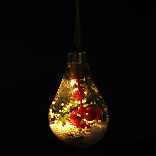 Semiter 3 Luces de Bola Colgantes de Cuerda de cáñamo de 2,7 x 4,3 Pulgadas de 1,5 V, incómodo de Romper, lámpara Colgante de Cuerda de cáñamo de plástico, Parque para Decorar árboles de(4#)