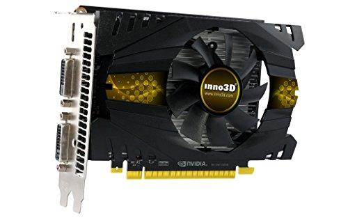 Inno3D N75T-1DDV-E5CW GeForce GTX 750 Ti 2GB GDDR5 - Tarjeta gráfica (GeForce GTX 750 Ti, 2 GB, GDDR5, 128 bit, 2560 x 1600 Pixeles, PCI Express x16 3.0)