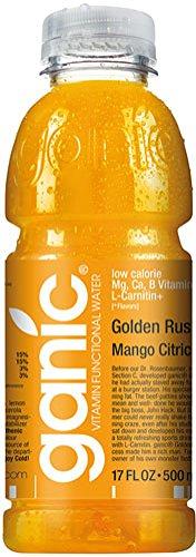 Ganic - Golden Rush Mango Citric, Vitaminwater - 500 ml