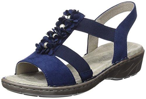 Jenny Damen Korsika T-Spangen Sandalen, Blau (Blau, Jeans), 40 EU