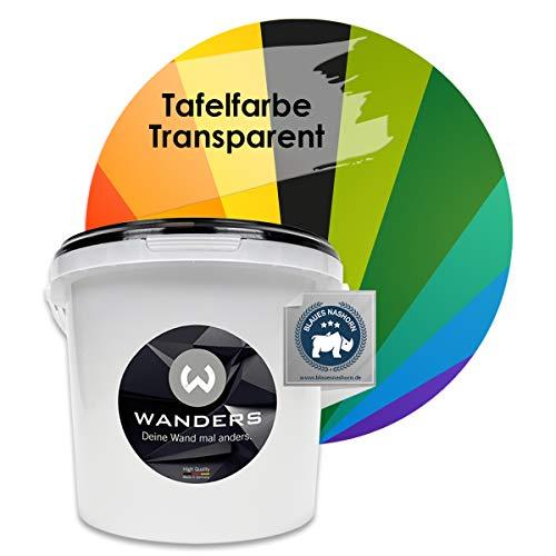 Wanders24 Tafelfarbe transparent (3 Liter) seidenglänzende Wandfarbe für die individuelle Gestaltung farbiger Flächen, Farbe Made in Germany